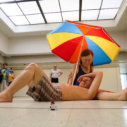 Couple under an Umbrella - Ron Mueck
