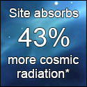 Site absorbs 43% more cosmic radiation